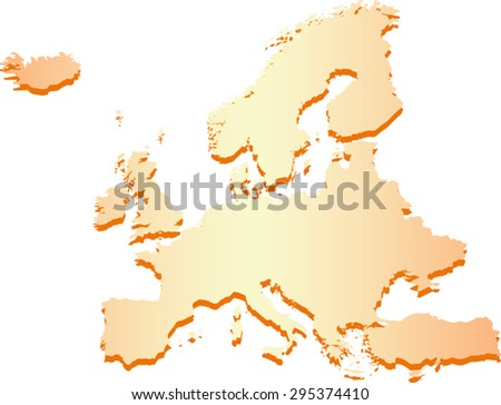High detailed Europe Map - stock vector