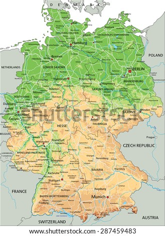 Relief Map Germany Stock Images RoyaltyFree Images Vectors - Germany physical map