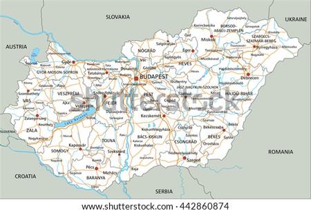 Zimbabwe Road Map Stock Vector 154853825 Shutterstock