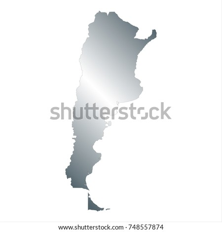 Argentina Map Black White Mercator Projection Stock Vector - Argentina map vector free