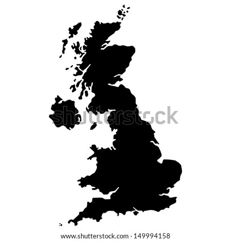 High detailed United Kingdom vector map.  - stock vector