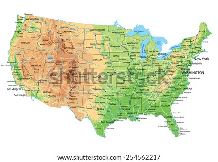 Terrain Map Stock Images RoyaltyFree Images Vectors Shutterstock - Us map terrain
