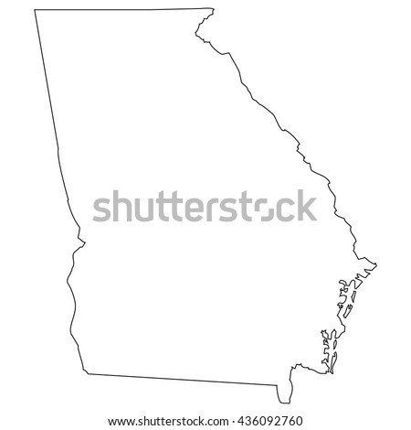High detailed vector contour map - Georgia