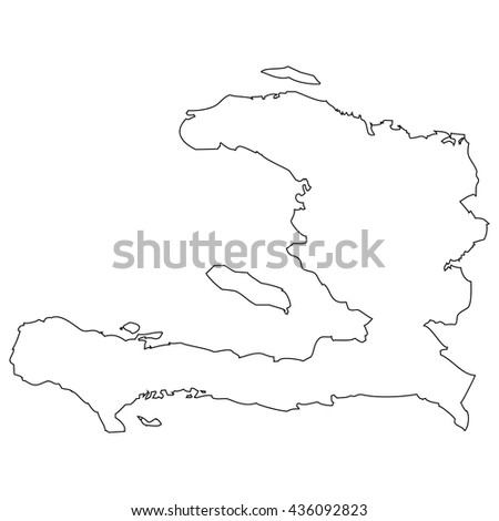 High detailed vector contour map - Haiti