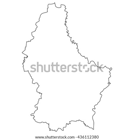 Luxembourg Vector Map Flag Inside Stock Vector - Luxembourg map vector