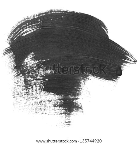 High detailed vector dab of paint isolated on white background - stock vector