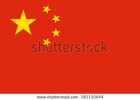 High detailed vector flag of China