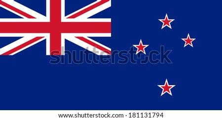 High detailed vector flag of New Zealand - stock vector