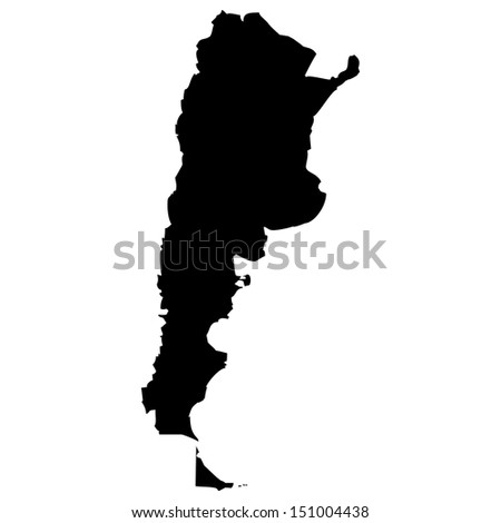 High detailed vector map - Argentina  - stock vector