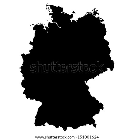 High detailed vector map - Germany  - stock vector