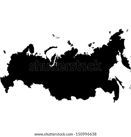 High detailed vector map - Russia  - stock vector