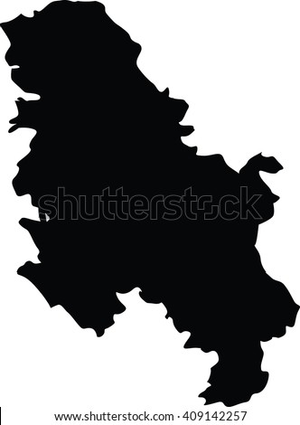 High detailed vector map - Serbia