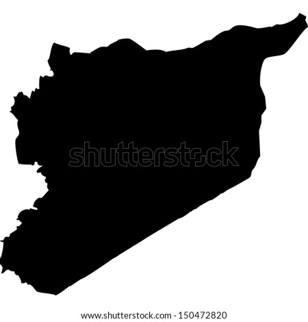 High detailed vector map - Syria  - stock vector