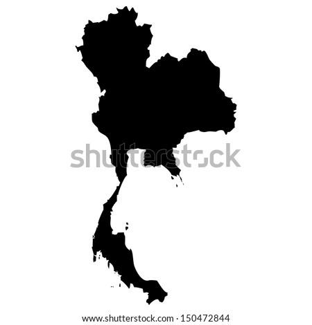 High detailed vector map - Thailand  - stock vector