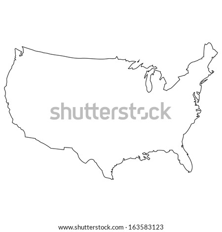 State Outlines Stock Images RoyaltyFree Images Vectors - Us map outline no states