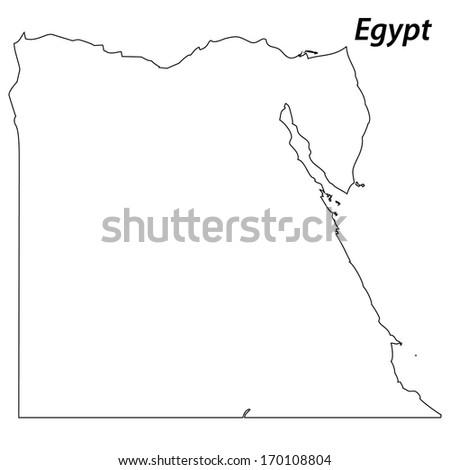 Egypt Outline Map Stock Images RoyaltyFree Images Vectors - Map of egypt outline