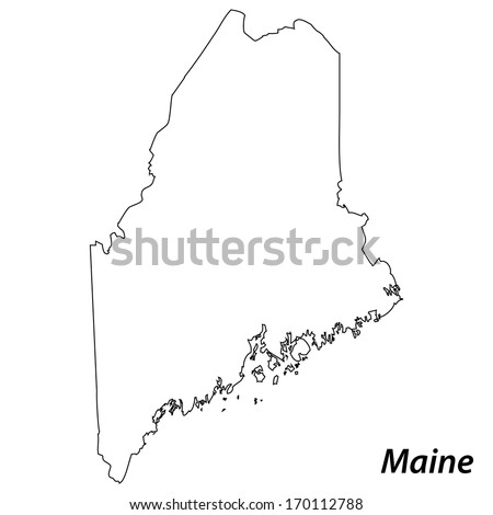 Maine Outline Stock Images RoyaltyFree Images Vectors - Maine blank physical map