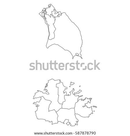 Dotted Map Antigua Barbuda Stock Vector 434083657 Shutterstock
