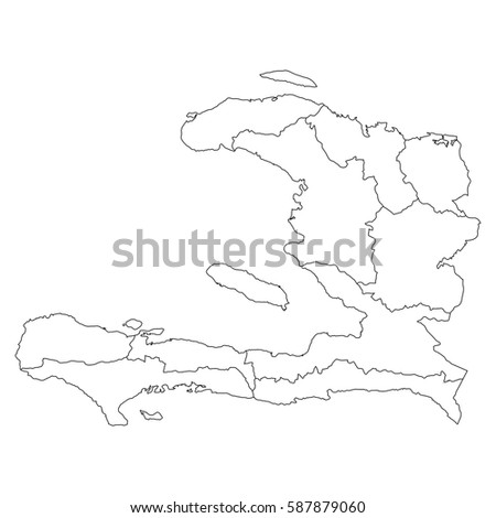 High detailed vector map with counties/regions/states - Haiti