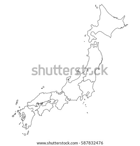 High detailed vector map countiesregionsstates japan stock vector high detailed vector map with countiesregionsstates japan sciox Choice Image