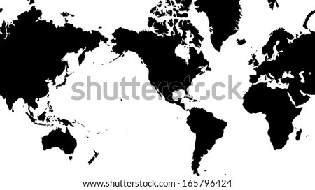 America centered world map stock images royalty free images high detailed vector map world map with america centered gumiabroncs