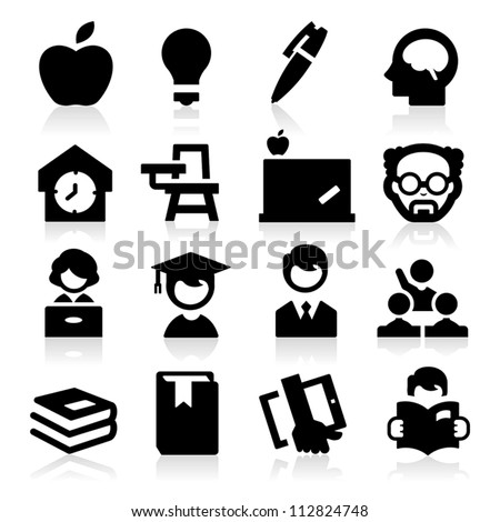 High education - stock vector