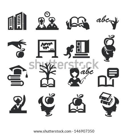 High education - stock vector