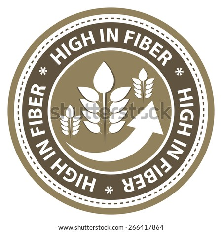 High fiber food product label. - stock vector