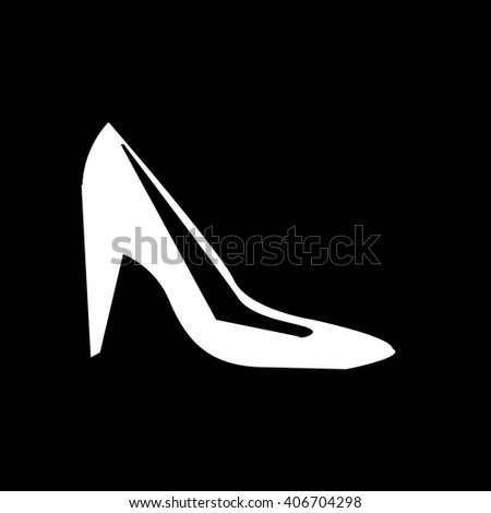 High Heel Shoes Icon Illustration design