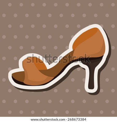 High-heeled shoes style theme elements vector,eps