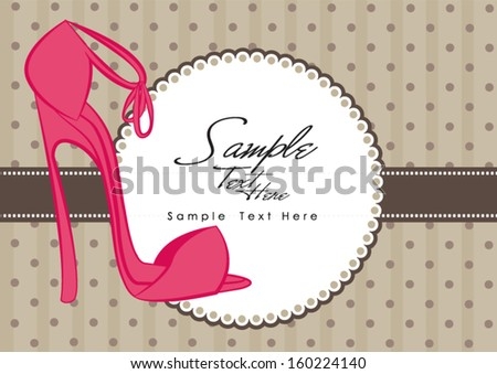 High heels - stock vector