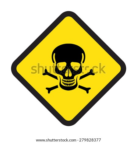 high power or poison danger signs vector icon