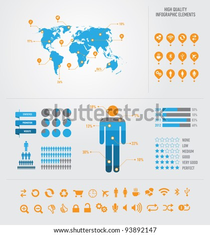 High quality business infographic elemnts - stock vector