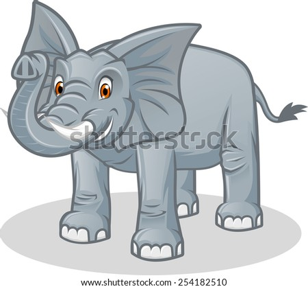 High Quality Elephant Vector Cartoon Illustration - stock vector