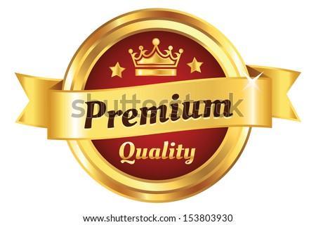 High Quality Golden Badge - stock vector