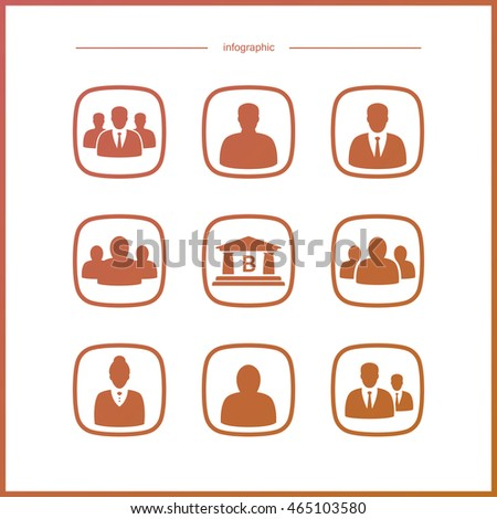 High quality  icon  set. Elements of infographics on Human resorsing and personnel management.