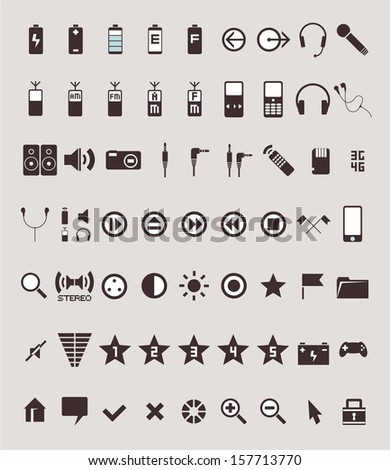 high quality icons in minimalistic style - stock vector