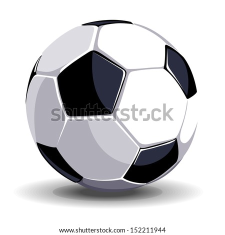 High quality isolated soccer (football) ball for sport art - stock vector