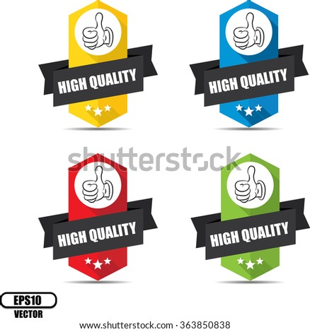 High quality label and sign - Vector illustration - stock vector