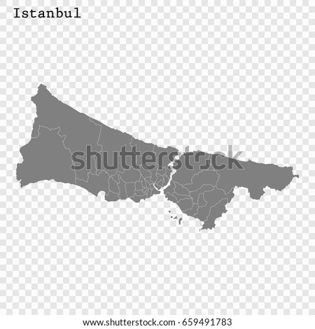 High Quality Map Istanbul City Turkey Stock Vector 659491783 ...