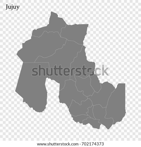 High Quality Map Jujuy Province District Stock Vector 702174373