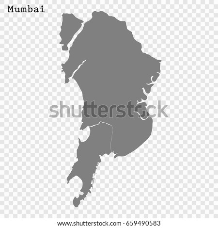 High Quality Map Mumbai City India Stock Vector HD Royalty Free