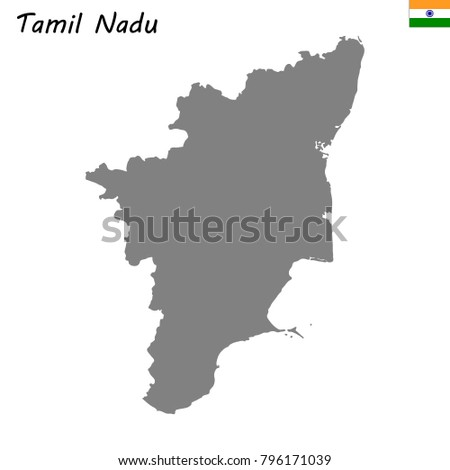 High quality map tamil nadu state stock vector 796171039 shutterstock high quality map of tamil nadu is a state of india gumiabroncs Image collections