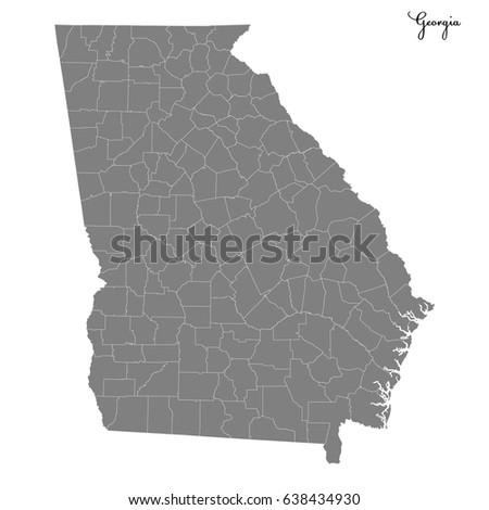 Georgia Map Stock Images RoyaltyFree Images Vectors Shutterstock - Us map of georgia