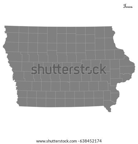 Iowa Map Stock Images RoyaltyFree Images Vectors Shutterstock - Map of us iowa