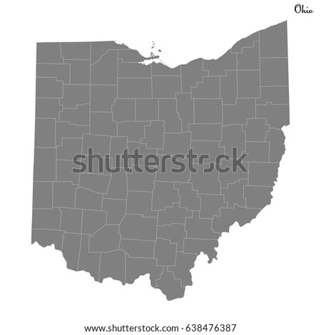 Ohio County Map Stock Images RoyaltyFree Images Vectors - Map of us ohio