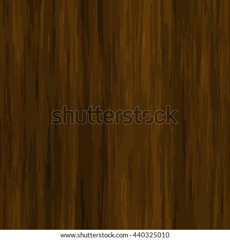 High quality Vector seamless wood texture. Dark hardwood part of parquet. Wooden striped fiber textured background. Old timber panel. Close up brown grainy surface plywood floor or furniture. - stock vector