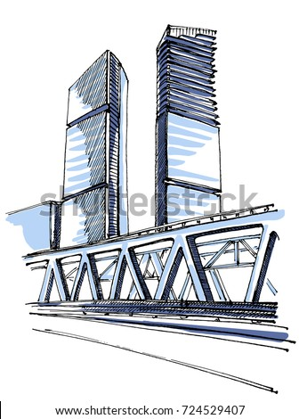 Building Sketch Stock Images Royalty Free Images