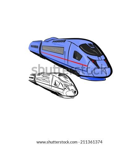 High Speed Train 1 - stock vector