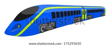 High Speed Train -  Vector Artwork (isolated on white background). - stock vector